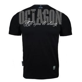 T-shirt Octagon - Ile szans tyle odwagi - czarny