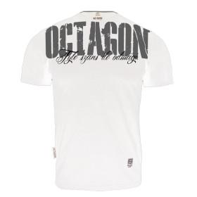 T-shirt Octagon - Ile szans tyle odwagi - biały