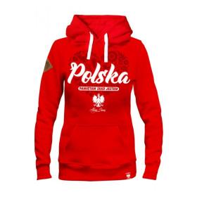 Damska bluza patriotyczna z kapturem Polska - pamiętam skąd jestem