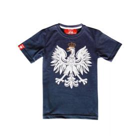 Patriotyczna koszulka dziecięca - Orzeł - jeans