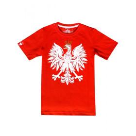 Patriotyczna koszulka dziecięca - Orzeł - czerwona