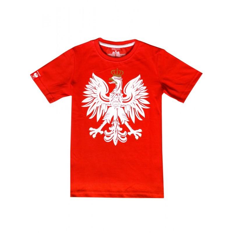 96ce1a5ab Patriotyczna koszulka dziecięca - Orzeł - czerwona - sklep Patrioty.pl