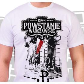 Koszulka patriotyczna męska Powstanie 44 - biała